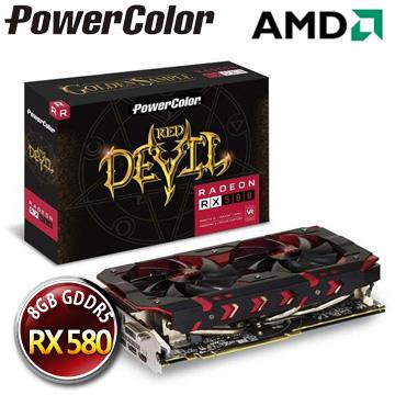 撼訊 AXRX 580 8GBD5-3DHG/OC RedDevil Golden 8G GDDR5 256bit