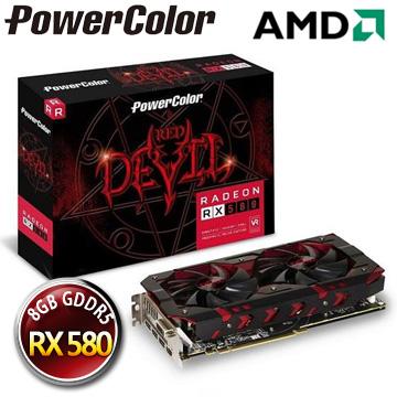 撼訊AXRX 580 8GBD5-3DH/OC RedDevil 8G GDDR5 256bit