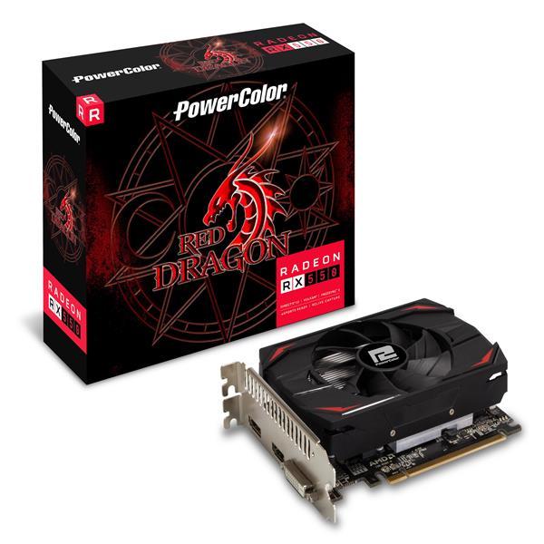 撼訊RX 550 Red Dragon 2GB GDDR5 128bit PCI-E圖形加速卡