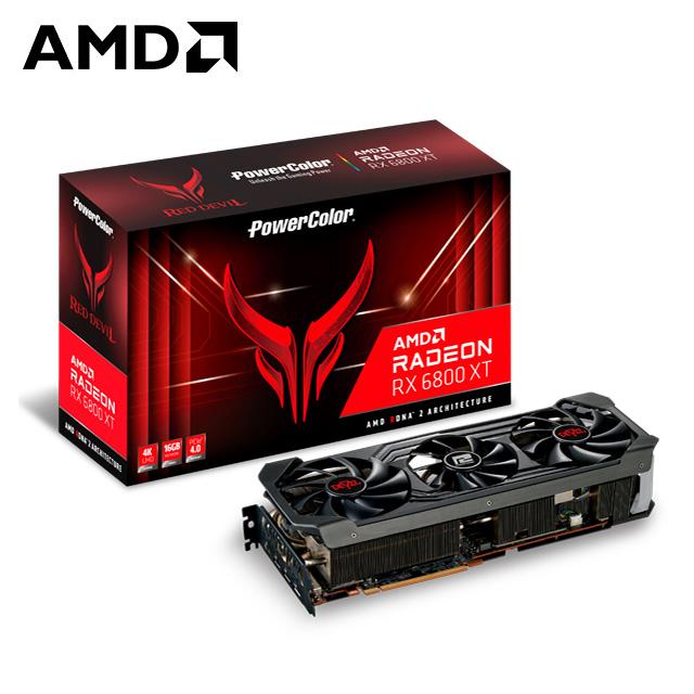 撼訊RX 6800 XT Red Devil OC RGB 16G GDDR6 256bit顯示卡