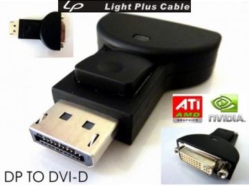 LPC-502 DisplayPort轉接頭 DisplayPort(公) TO DVI(母) ADAPTER