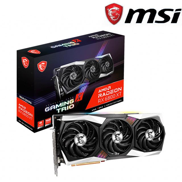 微星 Radeon RX 6800 XT GAMING X TRIO 16G顯示卡+X470 GAMING PLUS MAX+FORGE 100R