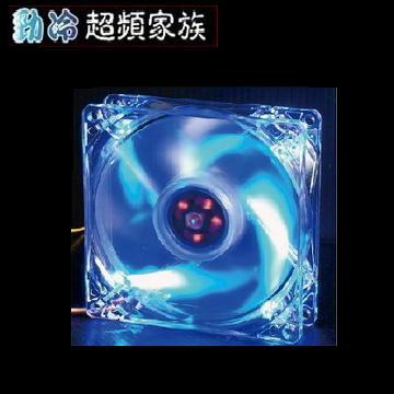EVERCOOL勁冷超頻家族 8公分LED燈系統風扇(藍色燈)