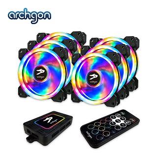 archgon亞齊慷 Hanabi 60 PWM RGB 電競風扇組(6入) (RGBCF26)