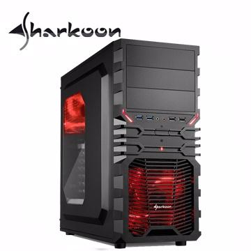 旋剛 狂風者 ATX (3)大(7)小 電腦機殼(紅光)