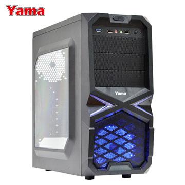 YAMA 雅瑪 黑曼巴 三大 USB3.0電腦機殼 內含一組LED風扇