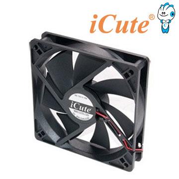 ▼強檔特賣▼iCute 12公分雙滾珠黑色系統散熱風扇 (12cm/120mm