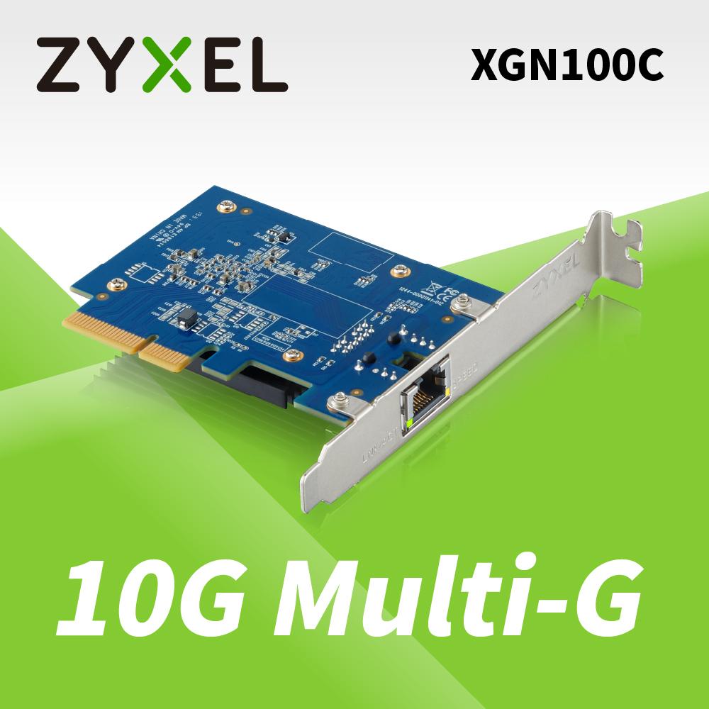 Zyxel合勤 XGN100C 10Gb 單埠 高速 有線網路卡 PCI-E 3.0 QoS 擴充卡 RJ45 銅纜 五速