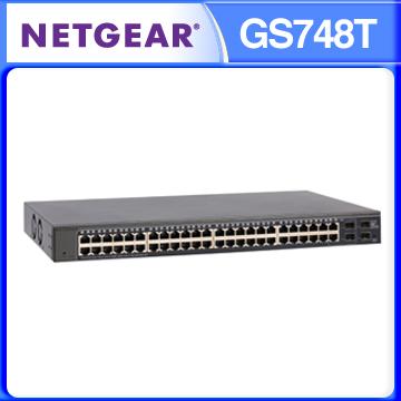 NETGEAR GS748T 48埠1000M GIGA+4埠光纖SFP GIGA 智能網管交換器