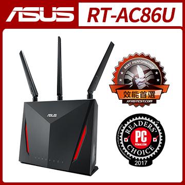 (福利品)ASUS華碩 RT-AC86U 802.11ac 雙頻無線 2900Mbps Gigabit 路由器