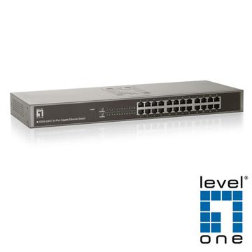 【LevelOne】10/100/1000Mbps 24埠超高速乙太網路交換器GSW-2457