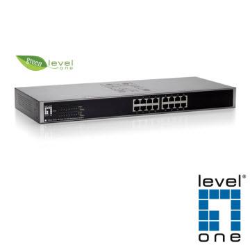 【LevelOne】16埠綠色環保乙太網路交換器 FSW-1650