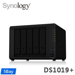 Synology群暉科技 DS1019+ 5Bay NAS網路儲存