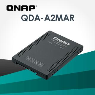 QNAP 威聯通 QDA-A2MAR 雙 M.2 SATA SSD 轉單 2.5 吋 SATA 硬碟轉接盒