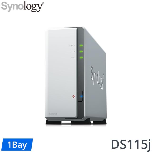 Synology 群暉 DS115j 1Bay 網路儲存伺服器