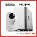 Synology 群暉 DS216j 2Bay NAS /Foscam R2 PT IPCAM