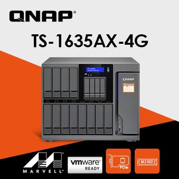 QNAP 威聯通 TS-1635AX-4G 16-Bay NAS(不含硬碟)