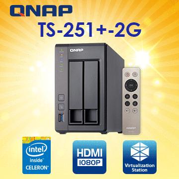 (UPS不斷電)[CyberPower 1500VA CP1500PFCLCD] QNAP TS-251+-2G 2Bay NAS