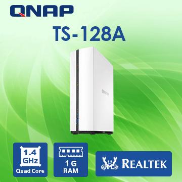 (UPS不斷電)[CyberPower 1500VA CP1500PFCLCD] QNAP TS-128A 1Bay NAS