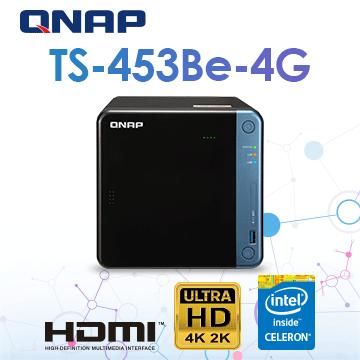 (交換器組合)[D-Link DGS-108] QNAP TS-453Be-4G 4Bay NAS