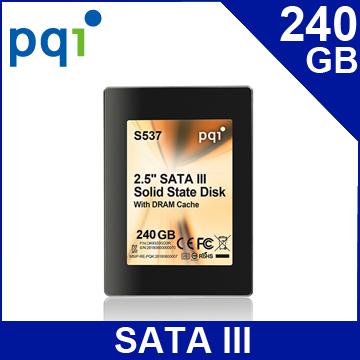 PQI勁永 S537 240GB 2.5吋 SATAIII 固態硬碟