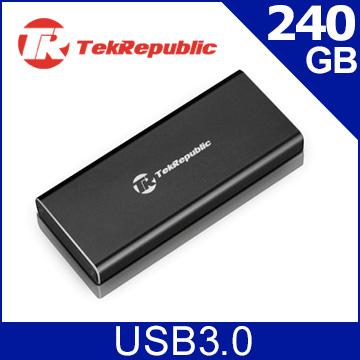 TekRepublic TES-240 240GB USB3.0 UASP M.2 SSD 高速外接固態硬碟