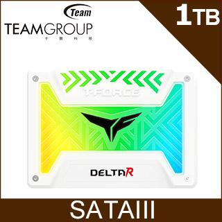 Team 十銓 T-FORCE Delta R RGB 1TB 2.5 SSD 固態硬碟 白