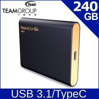 TEAM 十銓 PD400 240GB USB3.1 Type C SSD 外接式固態硬碟
