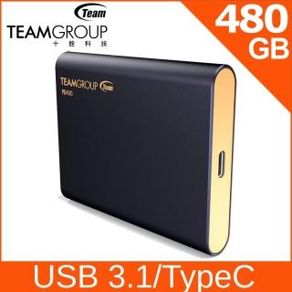 TEAM 十銓 PD400 480GB USB3.1 Type C SSD 外接式固態硬碟