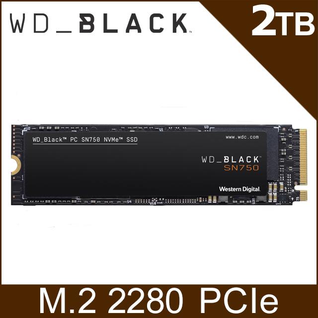 WD 黑標 SN750 2TB NVMe PCIe SSD固態硬碟(WDS200T3X0C)