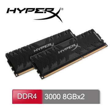 HyperX Predator DDR4 3000 16GB(8GBx2)桌上型超頻記憶體 (HX430C15PB3K2/16)