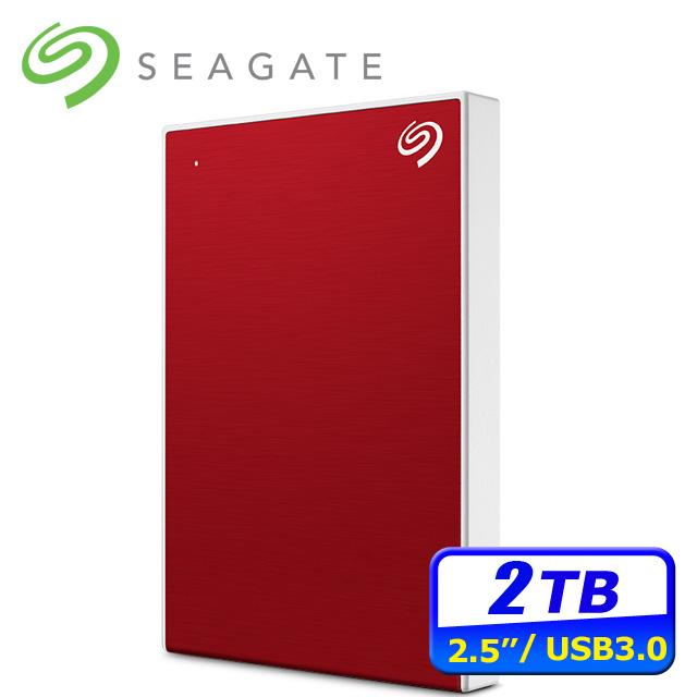 Seagate Backup Plus Slim 2TB USB3.0 2.5吋行動硬碟-紅