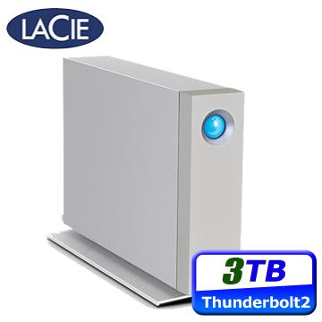 超值送★行動電源LACIE D2 3TB USB3.0 & Thunderbolt2 3.5吋外接硬碟(STEX3000300)