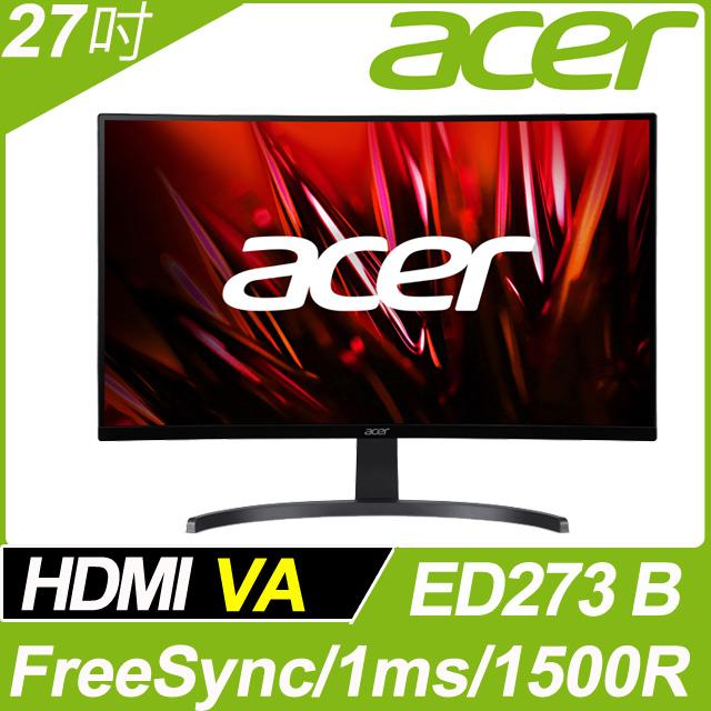 acer ED273 B 窄邊螢幕(27吋/FHD/HDMI/喇叭/VA)