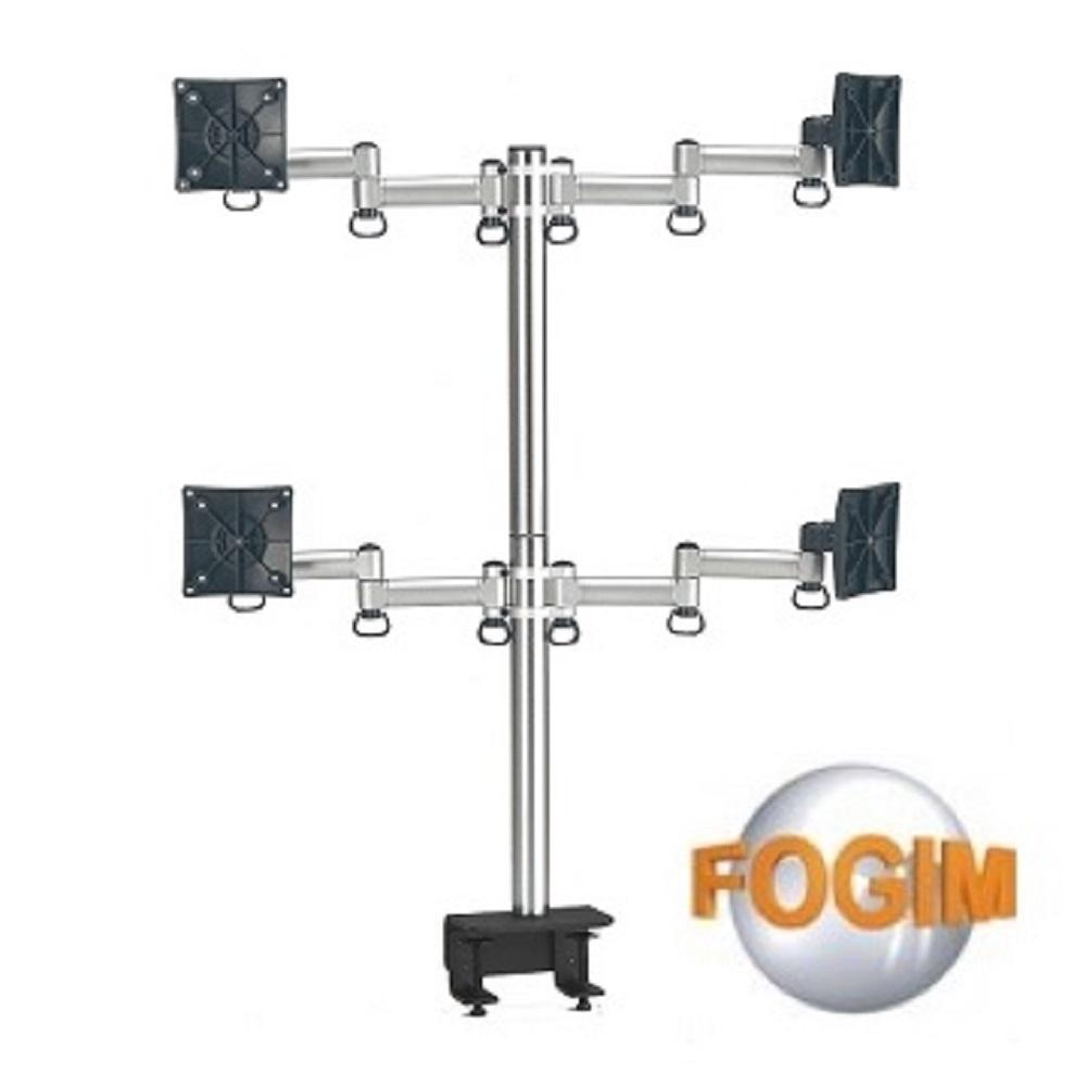 FOGIM夾桌懸臂式液晶螢幕支架(四螢幕)