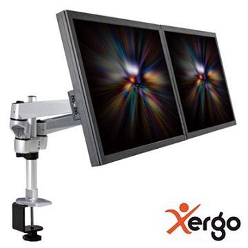Xergo 雙延伸臂雙螢幕夾桌支撐架(終身保固)-EM43116