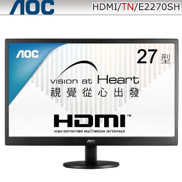 AOC27吋三介面大螢幕(E2770SH)