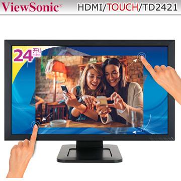 優派ViewSonic24吋Full HD多點光學觸控顯示器 (TD2421)