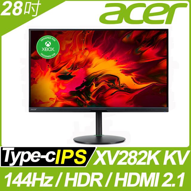 acer XV282K KV HDR400 電競螢幕(28吋/4K/144Hz/1ms/IPS/HDMI2.1)