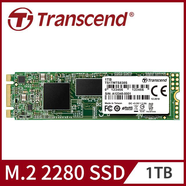 【Transcend 創見】1TB MTS830S M.2 2280 SATA Ⅲ SSD固態硬碟