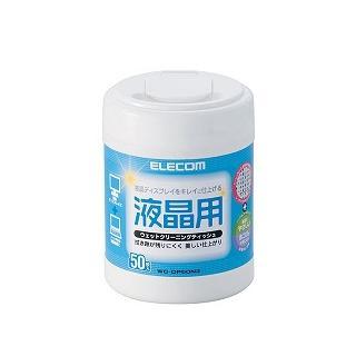 ELECOM  無酒精-液晶螢幕擦拭巾Ⅲ-50P