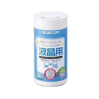 ELECOM 液晶螢幕擦拭巾-80P