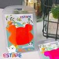 【王佳膠帶Seal King】隨手貼ESTAPE (熊熊造型Memo可書寫)全螢光橙