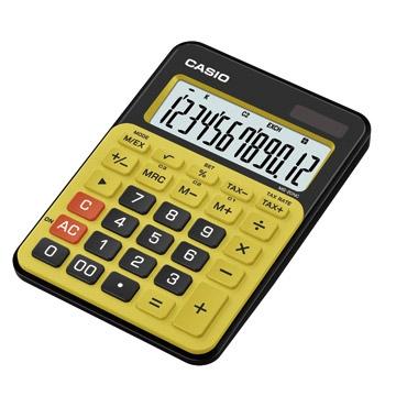 卡西歐CASIO微時尚計算機/12位元/MS-20NC-BYW/黑黃雙色