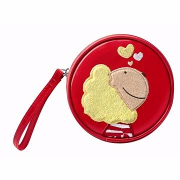 奶油獅貼布繡手拿包