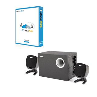 Dr.eye plus 譯典通 X 跨平台(一年版)+Edifier 3件式喇叭(黑色)
