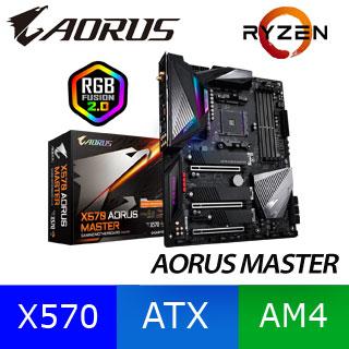 (C+M) 技嘉 X570 AORUS MASTER 主機板 + AMD R5-3400G 3.7GHz四核心處理器