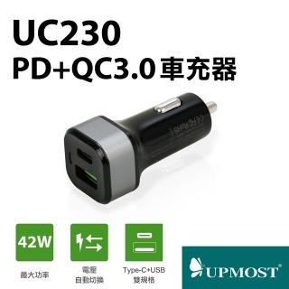 Upmost 登昌恆 UC230 PD+QC3.0車充器(鐵灰)