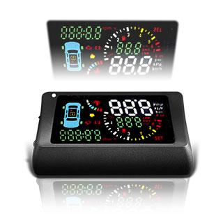 【TSA】S500-T抬頭顯示器+ORO胎內省電型傳感器( 胎壓偵測器,清晰大字體, 一機多工,品質穩定 )