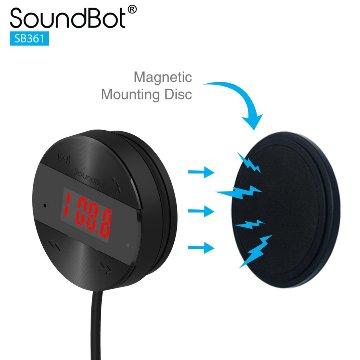 美國聲霸SoundBot SB361 FM LCD面版操控 - 車用音樂接收播放器,贈5.1A車用充電器